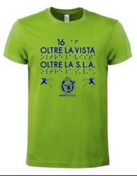 """La maglietta verde """"Oltre la vista oltre la SLA"""" edizione 2021"""